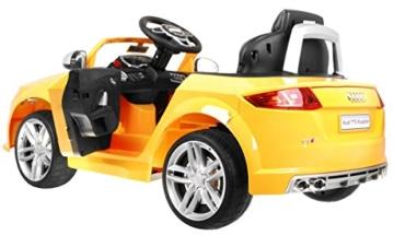 BSD Elektro Kinderauto Elektrisch Ride On Kinderfahrzeug Elektroauto Fernbedienung - Audi TT RS 2.4 GHz - Gelb Metallisch - 2