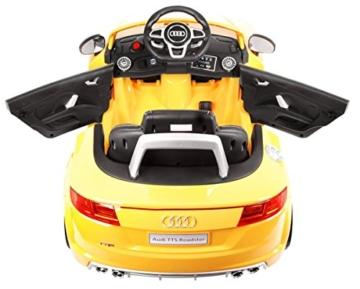 BSD Elektro Kinderauto Elektrisch Ride On Kinderfahrzeug Elektroauto Fernbedienung - Audi TT RS 2.4 GHz - Gelb Metallisch - 3