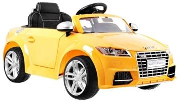 BSD Elektro Kinderauto Elektrisch Ride On Kinderfahrzeug Elektroauto Fernbedienung - Audi TT RS 2.4 GHz - Gelb Metallisch - 5
