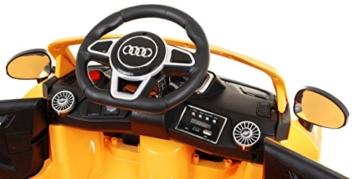 BSD Elektro Kinderauto Elektrisch Ride On Kinderfahrzeug Elektroauto Fernbedienung - Audi TT RS 2.4 GHz - Gelb Metallisch - 7