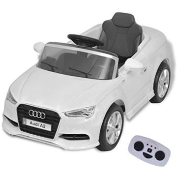 Audi A3 Elektrokinderauto Fernbedienung weiß