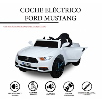 Ford Mustang Elektrokinderauto weiß