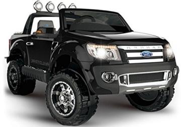 Ford Ranger Elektrokinderauto 2-Sitzer schwarz