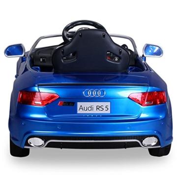 Audi RS5 Elektrokinderauto blau metallic