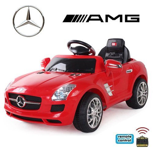 mercedes benz amg sls elektrokinderauto rot. Black Bedroom Furniture Sets. Home Design Ideas