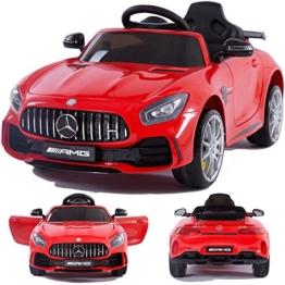 Mercedes Benz Elektrokinderauto GTR rot