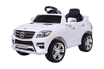 Mercedes-Benz ML 350 Elektrokinderauto Fernbedienung weiß