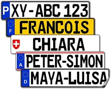 Kfz Kennzeichen Nummernschild Aufkleber