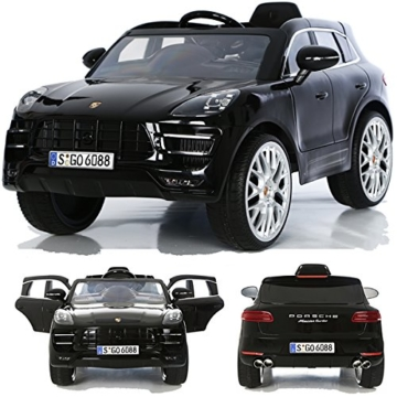 Porsche Macan Elektrokinderauto schwarz
