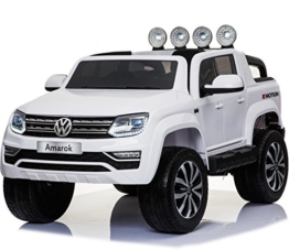 VW Amarok Elektrokinderauto Kinderfahrzeug 12V weiß