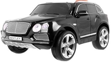 Bentley Bentayga Kinder Elektroauto schwarz