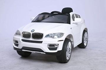 bmw x6 kinder elektro auto kinderfahrzeug 12v wei elektrokinderauto. Black Bedroom Furniture Sets. Home Design Ideas