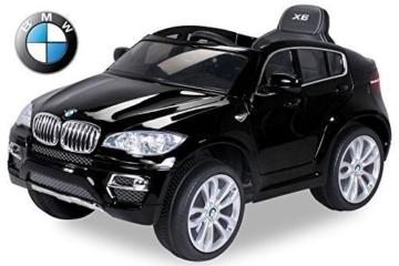 bmw x6 elektro kinderauto sonderedition schwarz lackiert 2 x 45 watt motor elektrokinderauto. Black Bedroom Furniture Sets. Home Design Ideas