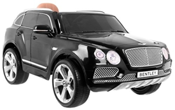 bentley bentayga kinder elektroauto schwarz. Black Bedroom Furniture Sets. Home Design Ideas
