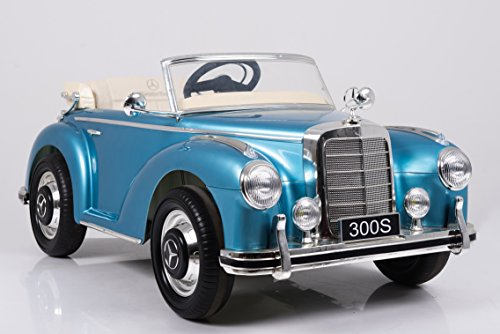 mercedes benz 300s oldtimer kinder elektroauto blau. Black Bedroom Furniture Sets. Home Design Ideas