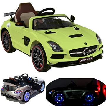 mercedes benz sls amg kinder elektroauto gr n. Black Bedroom Furniture Sets. Home Design Ideas