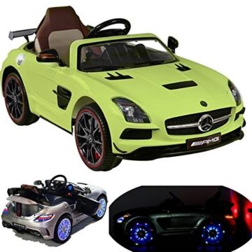 Mercedes-Benz SLS AMG Kinder Elektroauto grün