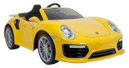 Porsche 911 Turbo S Kinder Elektroauto gelb