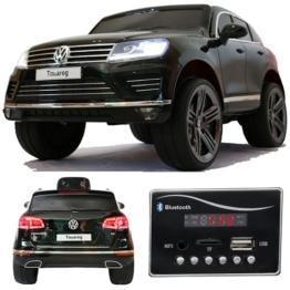 VW Touareg Kinder Elektroauto schwarz