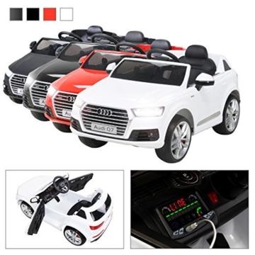 Audi Q7 Elektro Kinderauto weiß