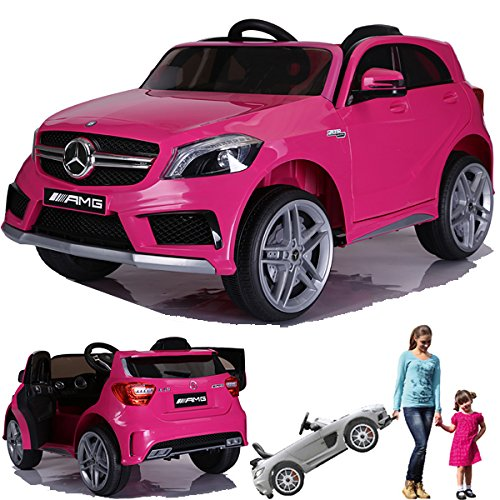 mercedes benz a45 elektro kinderauto kinderfahrzeug pink. Black Bedroom Furniture Sets. Home Design Ideas