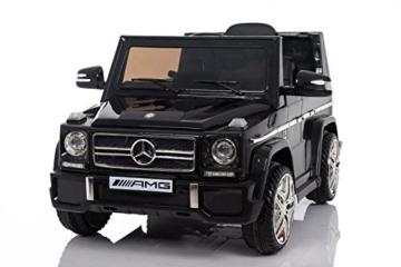 Mercedes-Benz G65 Kinder Elektroauto schwarz