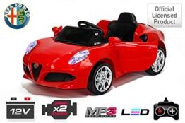 Alfa Romeo Kinder Elektroauto rot