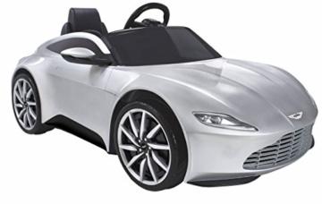 Aston Martin Kinder Elektroauto silber