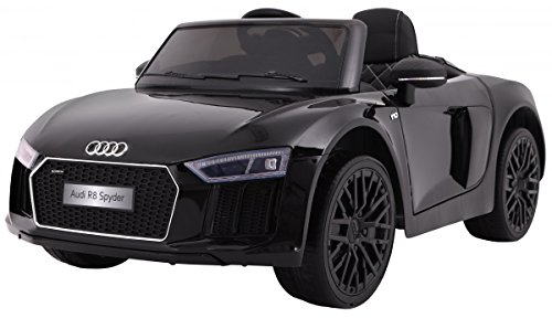 audi r8 spyder rs kinder elektroauto 2x45w 2 4 ghz schwarz. Black Bedroom Furniture Sets. Home Design Ideas