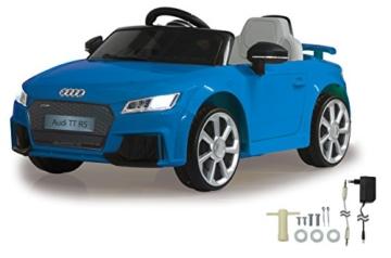Audi TT RS Kinder Elektroauto blau