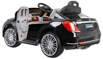 mercedes s600 kinder elektroauto 2x35w schwarz metallic. Black Bedroom Furniture Sets. Home Design Ideas