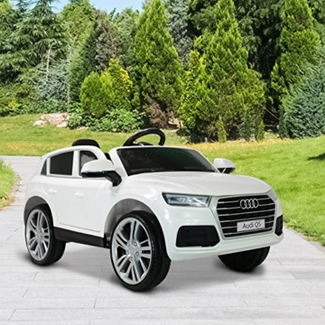 audi q5 kinder elektroauto mit fernbedienung wei. Black Bedroom Furniture Sets. Home Design Ideas
