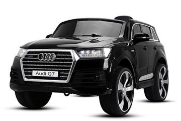 Audi Q7 Kinder Elektroauto schwarz 2x35W 2x Batterie