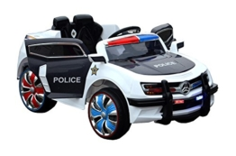 Kinder Elektroauto Polizei schwarz weiß