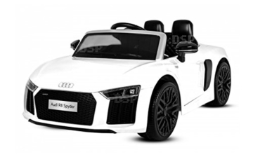 kinder elektroauto audi r8 spyder 2x35w wei. Black Bedroom Furniture Sets. Home Design Ideas