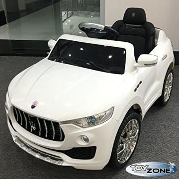 Kinder Elektroauto Maserati Levante weiß
