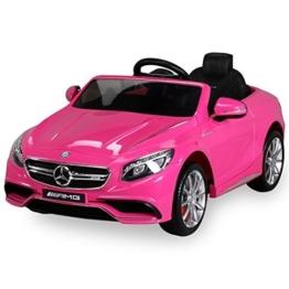 Mercedes S63 Kinder Elektroauto 12V 2x45W pink