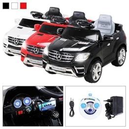 Kinder Elektroauto Mercedes ML350 schwarz