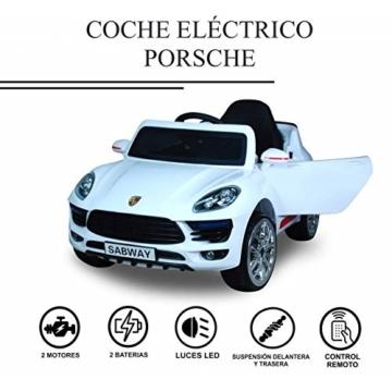 Kinder Elektroauto Porsche weiß