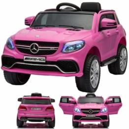 Mercedes Benz GLE 63 Kinder Elektroauto pink rosa