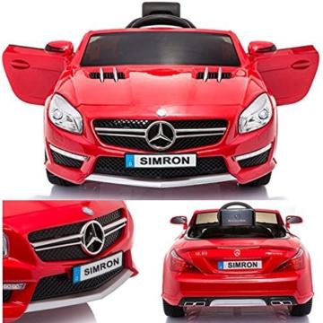 Mercedes-Benz SL63 Kinder Elektroauto rot