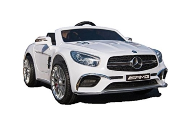 Kinder Elektroauto Mercedes SL65 weiß