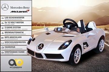 Mercedes McLaren Moss Kinder Elektroauto silber