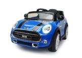 Mini Cooper Kinder Elektroauto blau