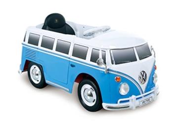 VW Bus T1 Kinder Elektroauto blau