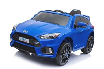 Kinder Elektroauto Ford Focus RS blau