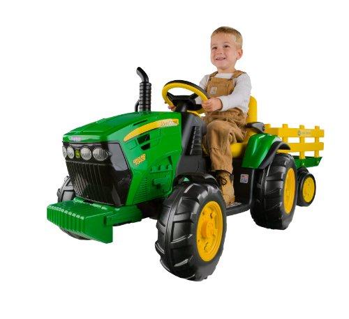 john deere ground force kinder elektro traktor von peg perego 12 volt mit anh nger. Black Bedroom Furniture Sets. Home Design Ideas