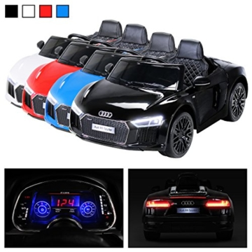 kinder elektroauto audi r8 spyder elektrokinderauto. Black Bedroom Furniture Sets. Home Design Ideas