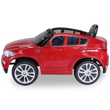 Kinder Elektroauto BMW X6 rot