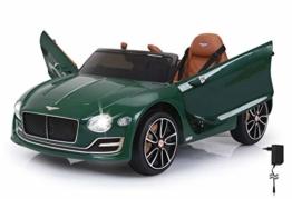 Kinder Elektroauto Bentley Exp12 grün